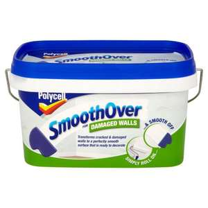 HALF PRICE Polycell SmoothOver for Cracked/Dmaged Walls 2.5ltr £10.95 @ Wilkinsons
