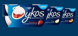 Oykos greek yogurts -  pack of 4 for £1 @ Morrisons (all flavours)