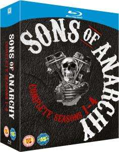Sons of Anarchy Season 1-4 Blu Ray £29.95 @Zavvi