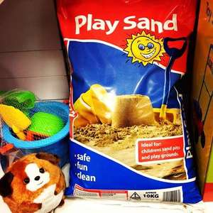 Kids Play Sand 10kg bag £1.99 @ Home Bargains stores