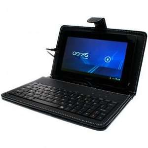 "7dayshop Black Leather Book Case & USB Keyboard for 7"" Android Tablets - £8.99 Delivered"