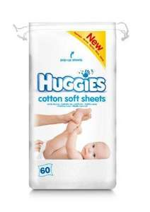 Huggies Cotton Soft Sheets Pack of 360 £5.67 @ Amazon