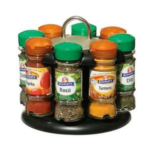 Asda spice rack with 8 free Schwartz spices reduced to £12