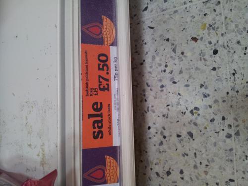 Badshah rice half price £7.50 Sainsbury's 10kg (world food aisle)