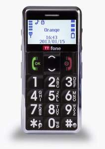 TTfone TT099 Senior Basic Mobile Phone with Crystal White Large easy to read Display, Big Buttons, Torch, FM Radio and SOS Emergency Button - £18.99 @ Amazon