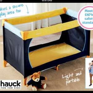 Hauck Travel Cot Only £19.99 from thursday 30th may at Aldi