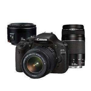Canon Camera 550D With 3 Canon Lenses £494.98 @ Jessops 75-300mm / EF 50mm / 18-55 DC Lens