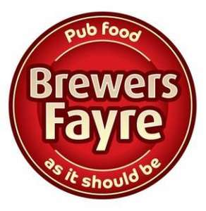 Join the Brewers Fayre Bonus Club for free and receive 250 points worth £2.50 and collect points on your food and drink every time you visit