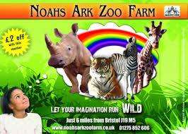 Noahs ark zoo farm (bristol) two adult tickets £13.00 at living social
