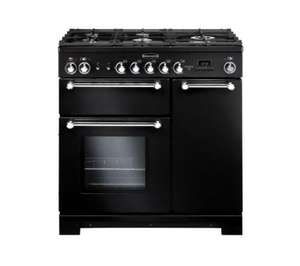 Rangemaster Kitchener 90 Dual Fuel in black  £999 +3% Quidco - Currys.co.uk