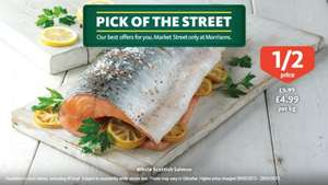 Half price Fresh whole Scottish Salmon - £4.99 a kilo @ Morrisons