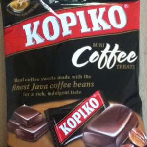 Kopiko coffee and cappuccino sweets 90G bag 99p @ 99p stores