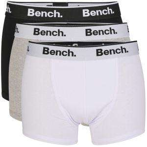 BENCH MEN'S 3-PACK BOXERS - BLACK/WHITE/GRE £11.69 with code @ The Hut