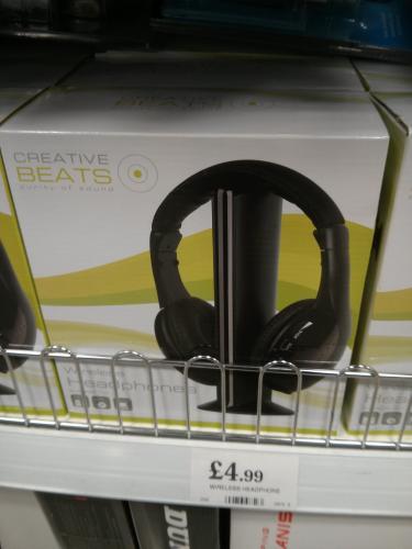 Wireless Headphones £4.99 Instore @ Home Bargains