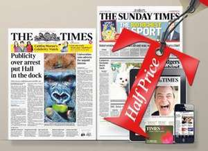 The Times & Sunday Times 3 Month Half Price Summer Trial (from £2 a week)