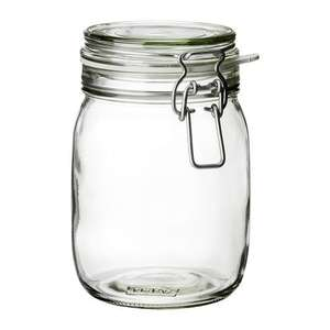 Kilner Type Clip Top Storage Jar made from Glass £1 instore @ ASDA (1.5 litre)