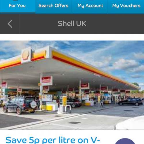 Shell - 5p off per litre off V-Power Nitro + Unleaded & Diesel