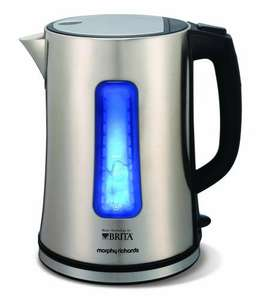 Morphy Richards 43960 Accents BRITA Filter Jug Stainless Steel Kettle £29.99 RRP £49.99