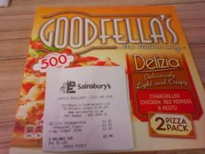 Goodfella's Delizia Chicken, Red Peppers & Pesto £0.50 @ Sainsbury's Nottingham