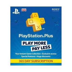 365 day Playstation Plus subscription (CEX) £28 (plus £2.50 delivery)