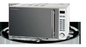 Russell Hobbs Silver Digital Microwave with Grill 800w 20 ltr - Mirror Finish - In-store at Asda £50