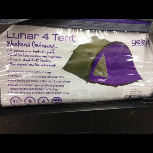 Gelert Lunar 4 man tent reduced from £59.96 @ tesco