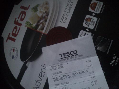 Tefal 26cm frying pan £5.63 @ Tesco