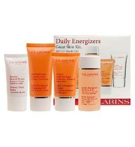 Clarins Daily Energizer Kit - 4 beauty essentials RRP£26, £15 @ Boots, free delivery to store (spend over £20)