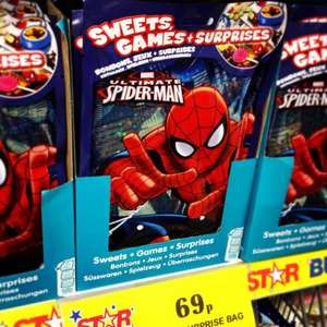 Spiderman or Disney Princess Lucky Bags, 69p at Home Bargains