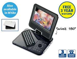 "7"" Portable DVD Player £39.99 @ ALDI from Thursday"