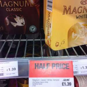 3 x Magnum Classic/white/almond £1.39 @CO-OP