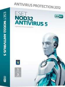 Eset NOD32 Antivirus, 3 licenses, plus £1 MP3 credit £16.99 @ Amazon (Eset Smart £21.99)