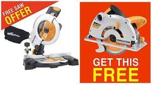 Combi offer - Evolution 210mm Compound Mitre Saw & Evolution RAGE 1B 185mm Multipurpose Circular Saw (RAGE3B2102) - £99 incl. delivery (Online & Instore) @ Screwfix