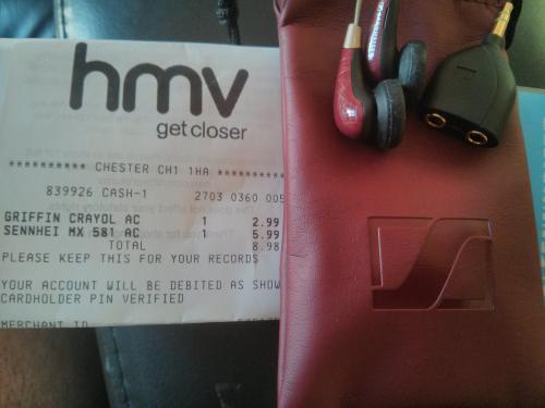 Sennheiser MX581 earphones HMV Chester - £5.99