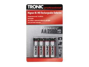 Ni-MH Rechargeable Batteries AA or AAA - 4 Pack for £2.99 @ Lidl