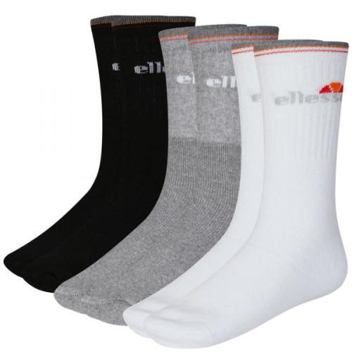 ELLESSE MEN'S 9-PACK SOCKS - BLACK/WHITE/MIXED £6.99 @ THE HUT