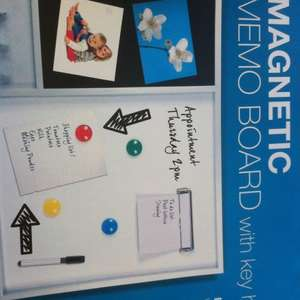 Magnetic memo board with key hook @ home Bargains