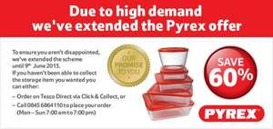 Tesco Pyrex 60% off Promotion from £1.99