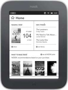 NOOK Simple Touch eReader available now for £29.00 @ ASDA Direct