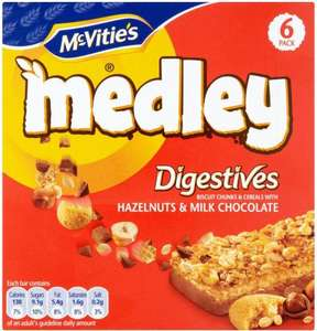 McVitie's Medley Digestives + Hobnobs Cereal Bars 6-Pack £1 @Coop