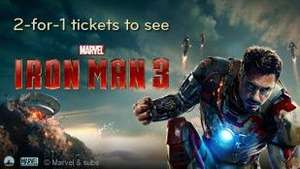 2-for-1 tickets to see Iron Man 3 (2D or 3D) @ Vue Cinemas