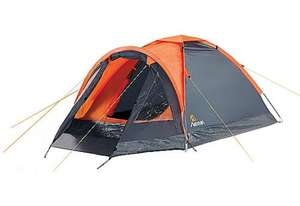 Aventura 2 Man Dome Tent with porch - Halfords - Was £29.99 now £11.99