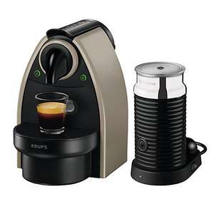 Nespresso  Krups Essenza Machine & Aeroccino Milk Frother for £79.99 with £40 Nespresso Gift Card for Coffee @ amazon