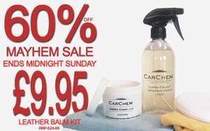 CarChem Leather Cleaner  & Leather Balm  + 4.99 delivery