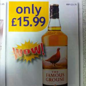 Famous Grouse 1ltr £15.99 @ Nisa