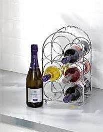 Chrome 6 bottle wine rack reduced to £2 ASDA instore