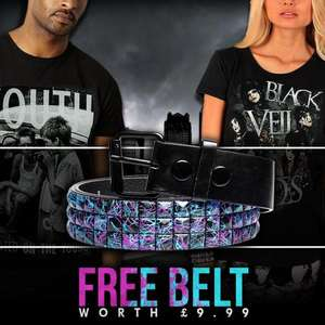 Free belt worth £9.99 when you buy a T-shirt from Blue Banana