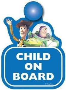 Toy story child on board sign 34p @asda
