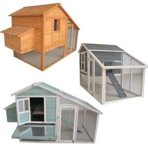 CHICKEN COOP & RUN HEN HOUSE POULTRY ARK HOME NEST BOX COUP COOPS RABBIT HUTCH from  £149.00 @ Ebay/ pet-farm