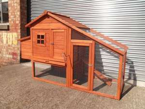 Ebay - CHICKEN COOP RUN HEN POULTRY RABBIT HOUSE ARK HOUSE HUTCH NEW LARGE NEST BOX ARK 190cm x 66cm x116cm - Suitable for upto 5 Birds £99.99 @ ebay vinsaniuk